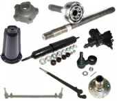 Steering & Suspension, Swivels, Hubs & Half Shafts